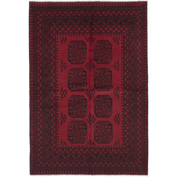 One-of-a-Kind Bridges Traditional Hand-Knotted Red Area Rug by Bloomsbury Market