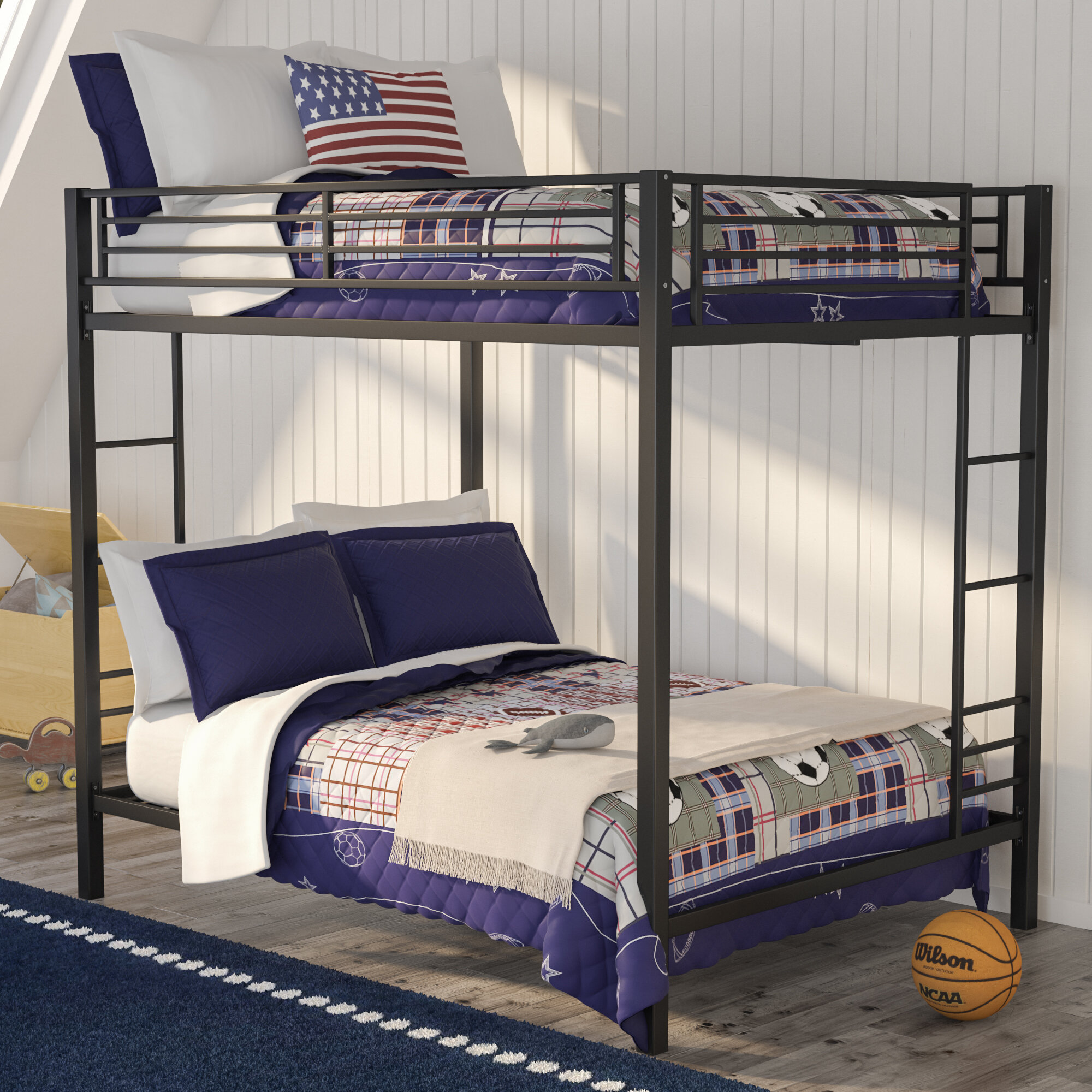 beds bed bead bunk trundle over twin with full dillon board wood gray beadboard convertible reviews