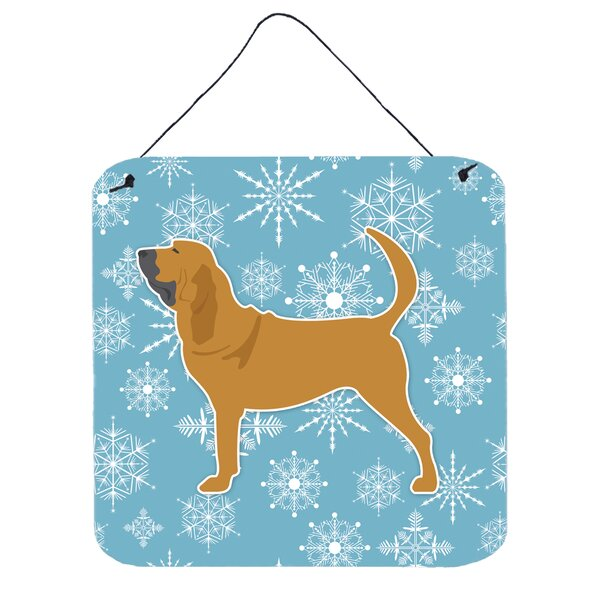 Snowflake Bloodhound Wall Décor by East Urban Home
