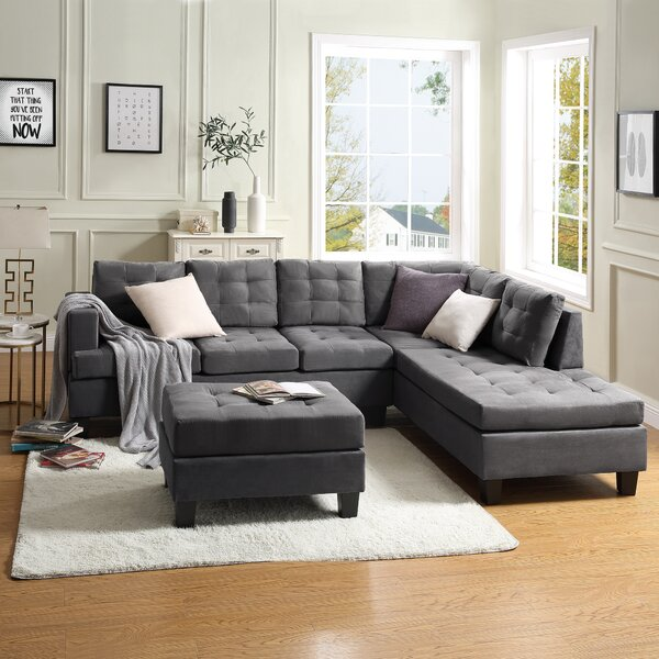 Claymont Sectional with Ottoman by Latitude Run