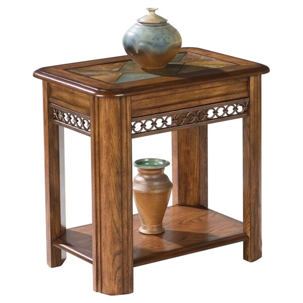 Gullickson Sliding Top Chairside Table by Fleur De Lis Living