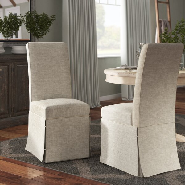 Dumfries Upholstered Dining Chair (Set of 2) by Three Posts