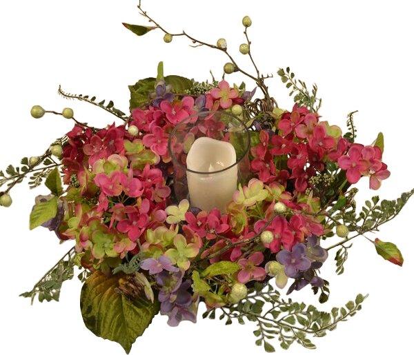 Hydrangea Candelabrum by Floral Home Decor