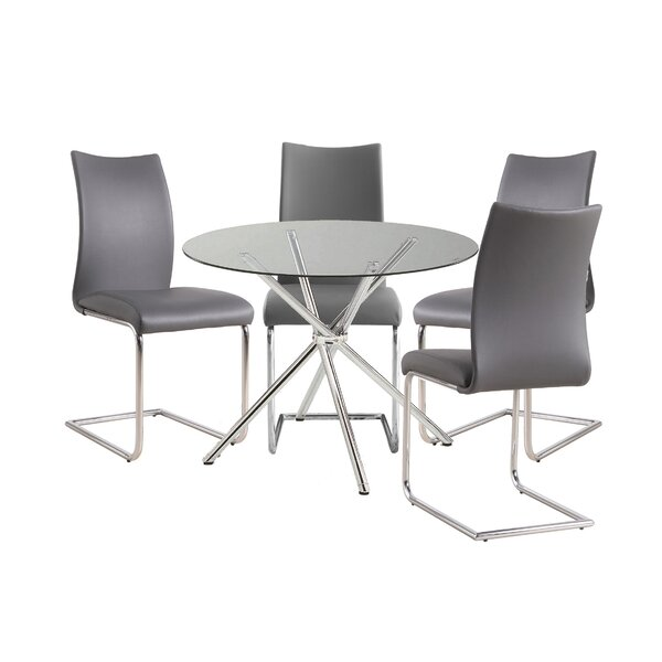 Mahaffey 5 Piece Dining Set by Orren Ellis