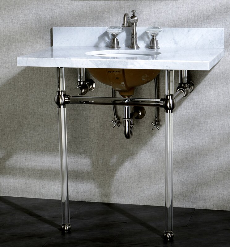 "Ceramic 13"" Console Bathroom Sink with Overflow. #industrialfarmhouse"