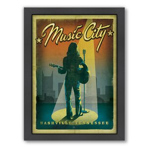 Son Music City Girl Framed Vintage Advertisement by East Urban Home