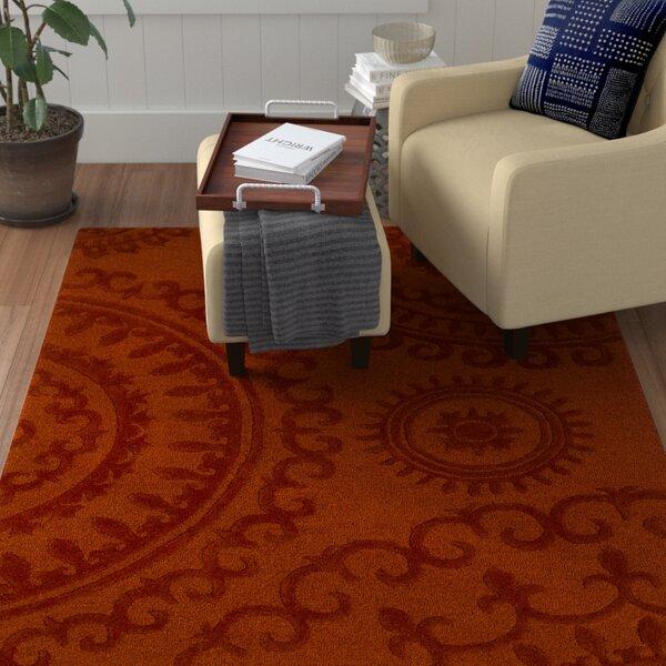 Allegan Handmade Orange Area Rug by Winston Porter