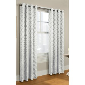 Springvale Geometric Room Darkening Grommet Single Curtain Panel