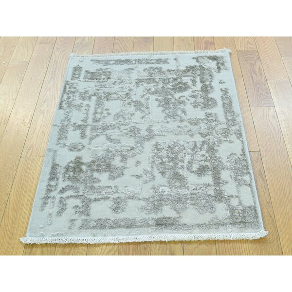One-of-a-Kind Beane Strike off Broken Design Handwoven Wool/Silk Area Rug by Isabelline