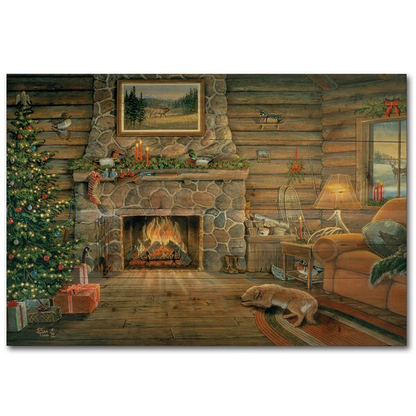 Woodland Warmth Painting Print Plaque by WGI-GALLERY