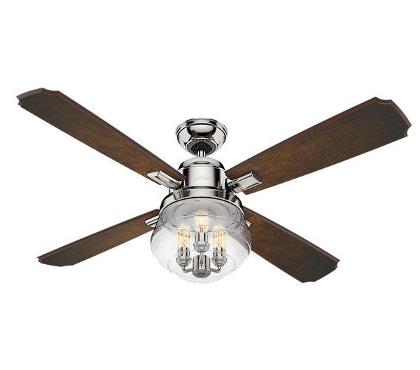 54 Sophia 4 Blade Ceiling Fan with Handheld Remote by Hunter Fan