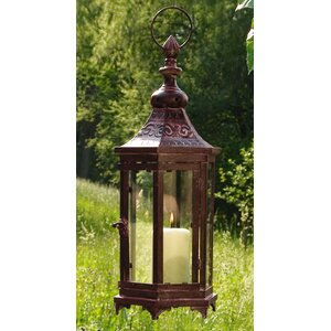 Modern Metal and Glass Lantern