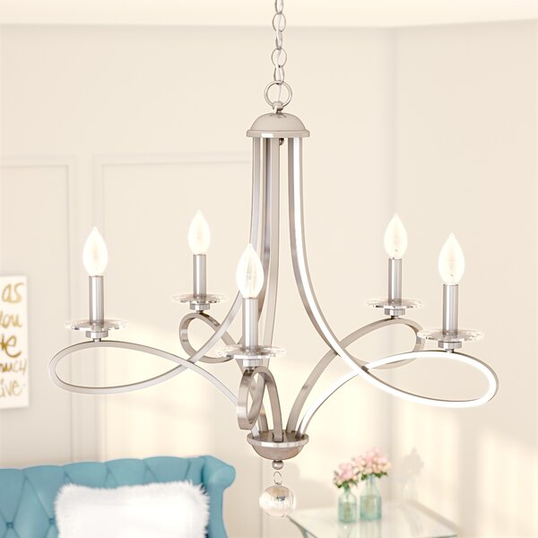 Berger 5-Light Chandelier by Willa Arlo Interiors