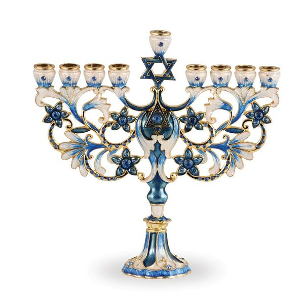 Jeweled Hanukkah Menorah by Zion Judaica