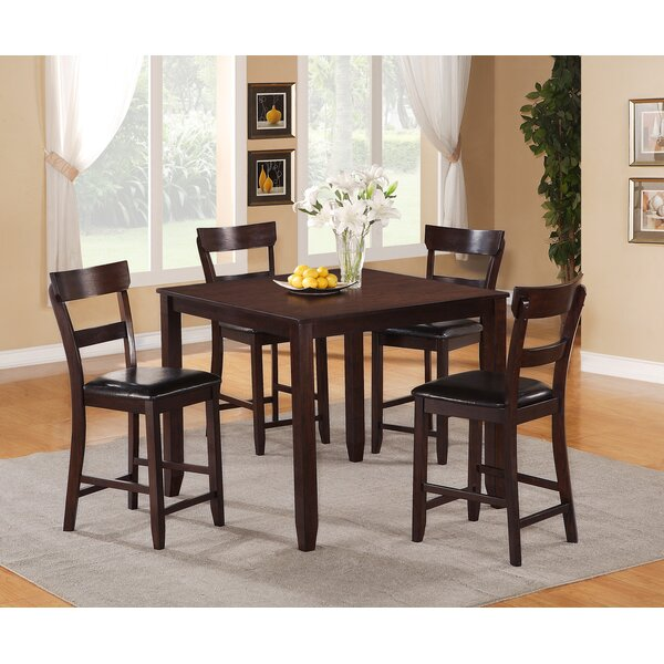 Wilmoth 5 Piece Counter Height Dining Set by Charlton Home Charlton Home