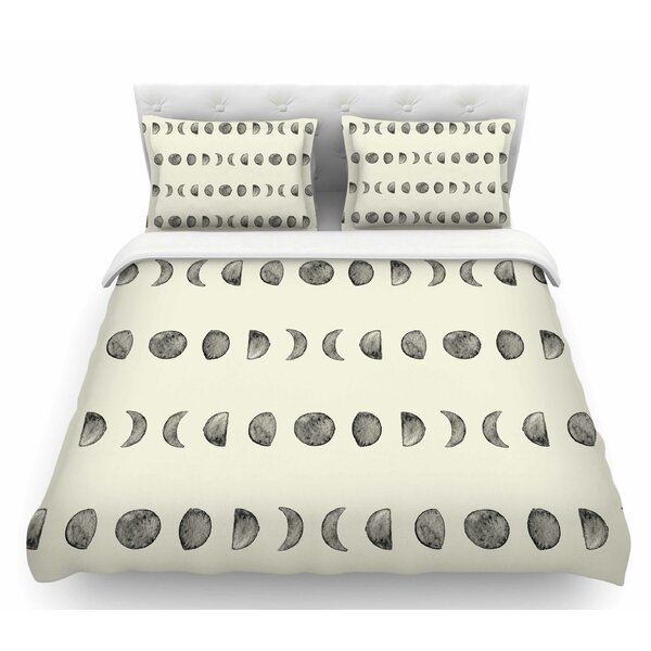 Phases of the Moon  Featherweight Duvet Cover by East Urban Home