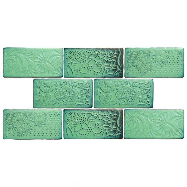 Antiqua 3 x 6 Ceramic Subway Tile in Feelings Lava Verde by EliteTile