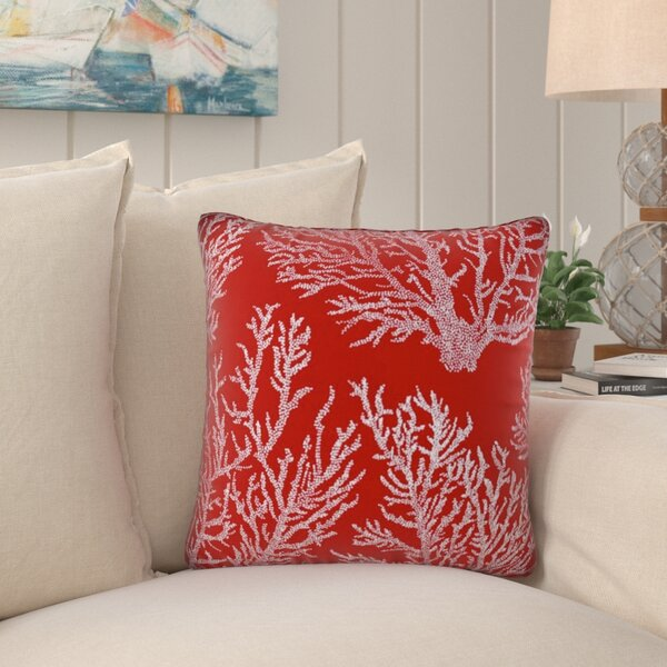 Weymouth Coral Indoor/Outdoor Throw Pillow