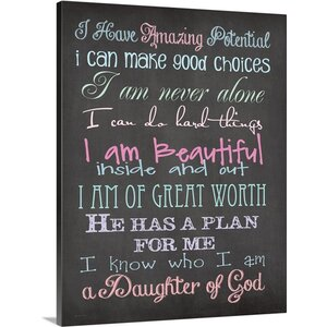 'Daughter Of God' by Jo Moulton Textual Art on Wrapped Canvas by Great Big Canvas
