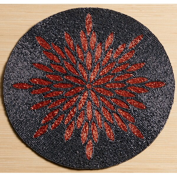 Glass Beaded Sunburst Placemat by Kindwer