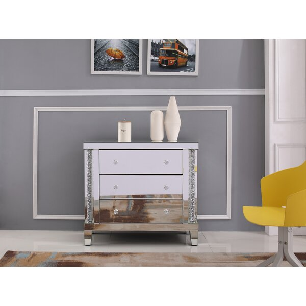 Fresh Dillan Crystal Cabinet 3 Drawer Standard Dresser By Rosdorf Park Today Sale Only
