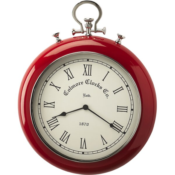 Round 21 Scarlet Wall Clock by Darby Home Co