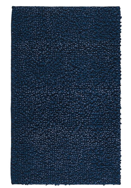 Munson Denim Twist Rectangle Egyptian-Quality Cotton Non-Slip Bath Rug