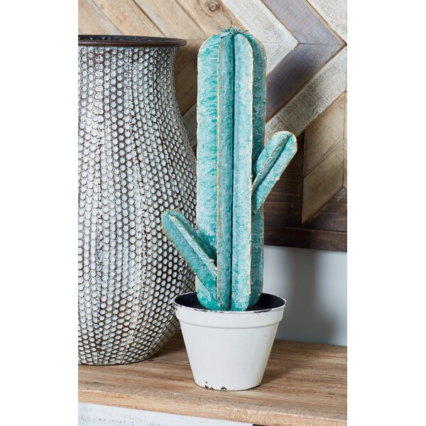 Frissell Natural Potted Cactus Sculpture by Bungalow Rose