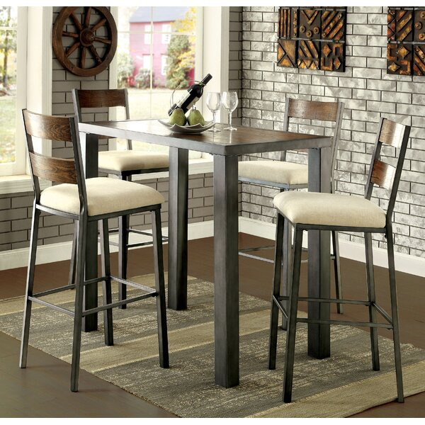 Thurman 5 Piece Pub Table Set by Red Barrel Studio
