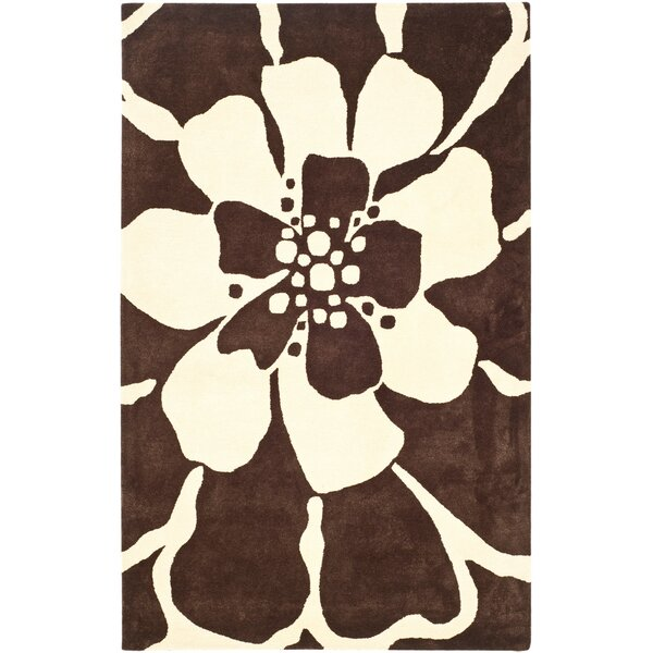 Snapdragon Hand-Tufted Brown/Beige Area Rug by Bay Isle Home