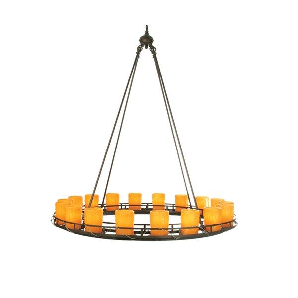 Amaan 18 - Light Candle Style Wagon Wheel Chandelier by Gracie Oaks Gracie Oaks