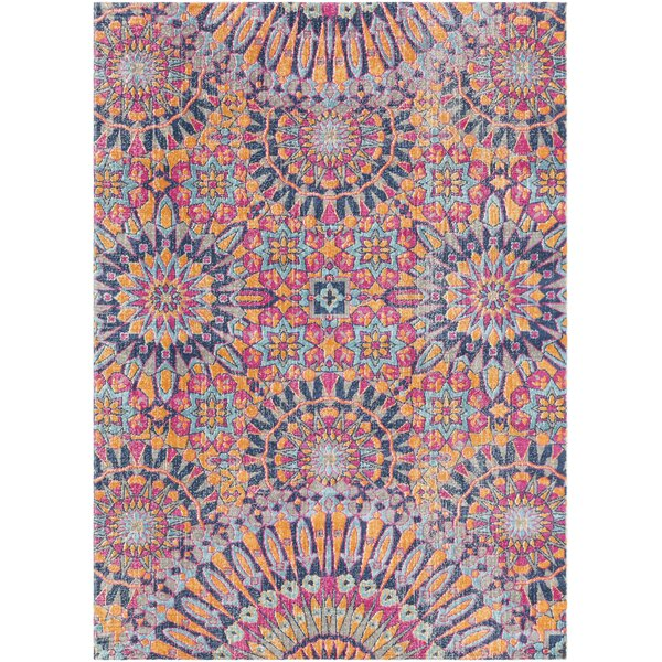 Arabi Pink/Blue Area Rug by Bungalow Rose