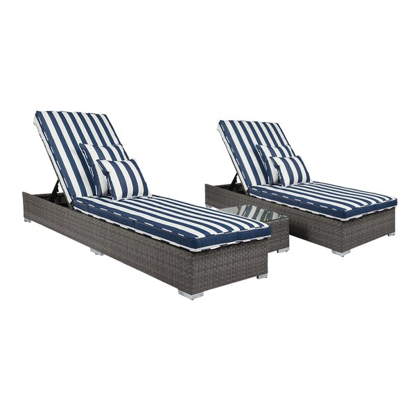 Ismail Monaco 3 Piece Conversation Set with Cushions by Breakwater Bay