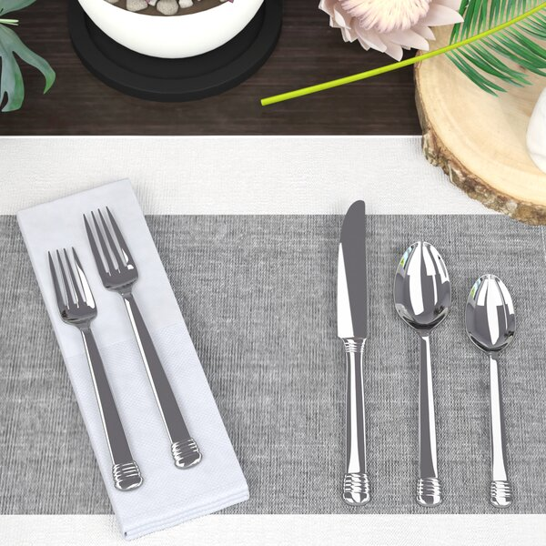 Rockwell 45-Piece 18/10 Stainless Steel Flatware Set by Mint Pantry