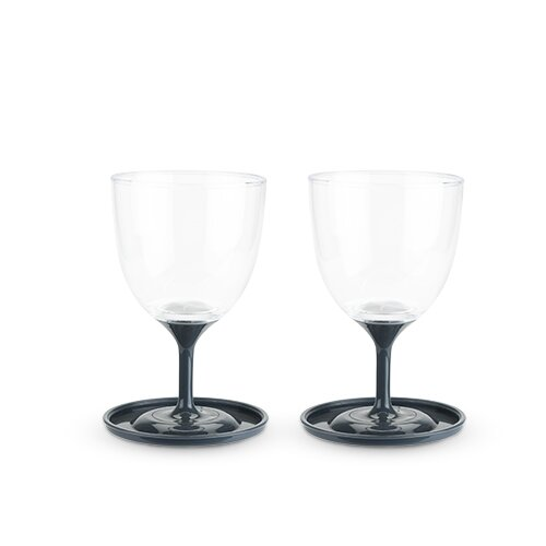 Roam Travel Plastic 10 oz. All-Purpose Wine Glass (Set of 2) by True Brands
