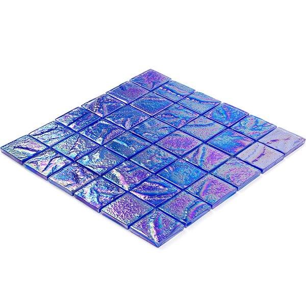 Marina 2 x 2 Glass Mosaic Tile in Blue by Splashback Tile