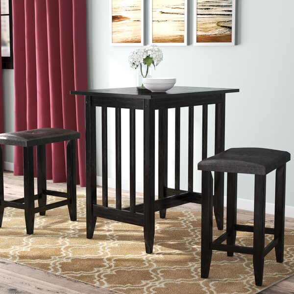 Richland 3 Piece Counter Height Pub Table Set by Andover Mills