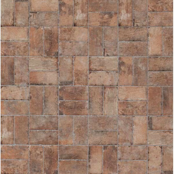 Chicago Brick 4 x 8 Porcelain Mosaic Tile in Old Chicago by Tesoro