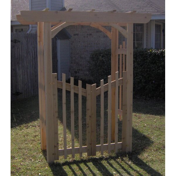 Decorative Cedar Wood Arbor with Gate by Threeman Products