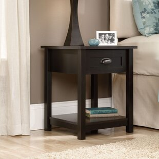 Best Price Rossford 1 Drawer Nightstand by Three Posts