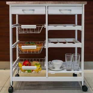 Kitchen Cart with Wood Top by Merax