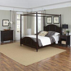 Harrison Canopy 3 Piece Mahogany Bedroom Set