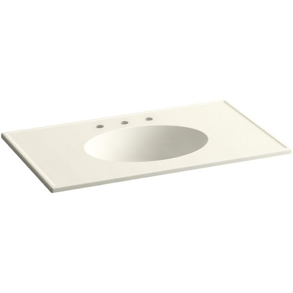 Ceramic Impressions Impressions Rectangular Drop-In Bathroom Sink with Overflow by Kohler