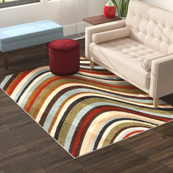 Jemison Blue/Beige Area Rug by Zipcode Design