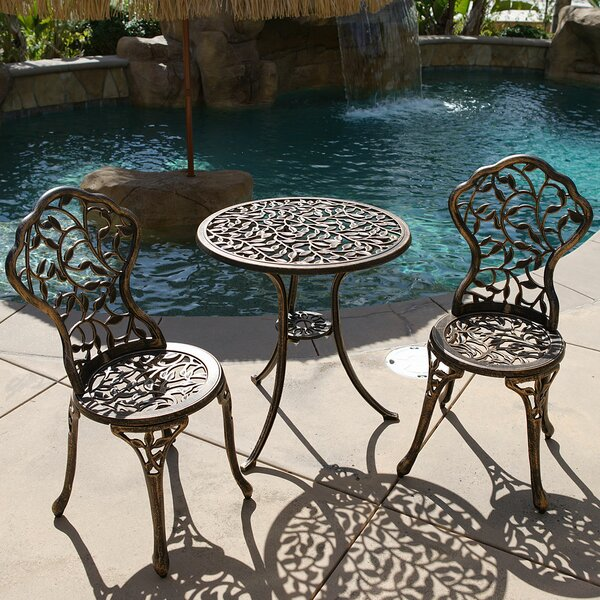Oldsmar 3 Piece Bistro Set by August Grove