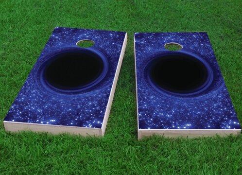 Black Hole Cornhole Game (Set of 2) by Custom Cornhole Boards