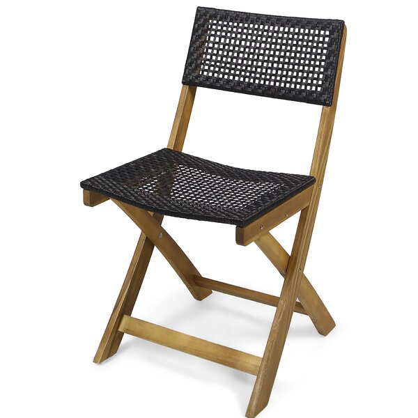 Mcclaskey Outdoor Foldable Bistro Patio Dining Chair (Set of 2) by Bungalow Rose