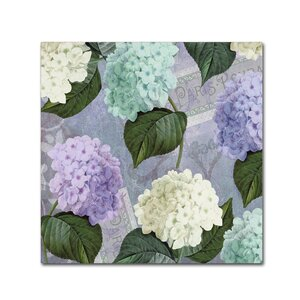 'Hortensia Lavenders' by Color Bakery Graphic Art on Wrapped Canvas by Trademark Fine Art