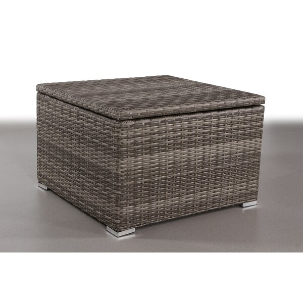 Crispin Wicker Side Table by Rosecliff Heights