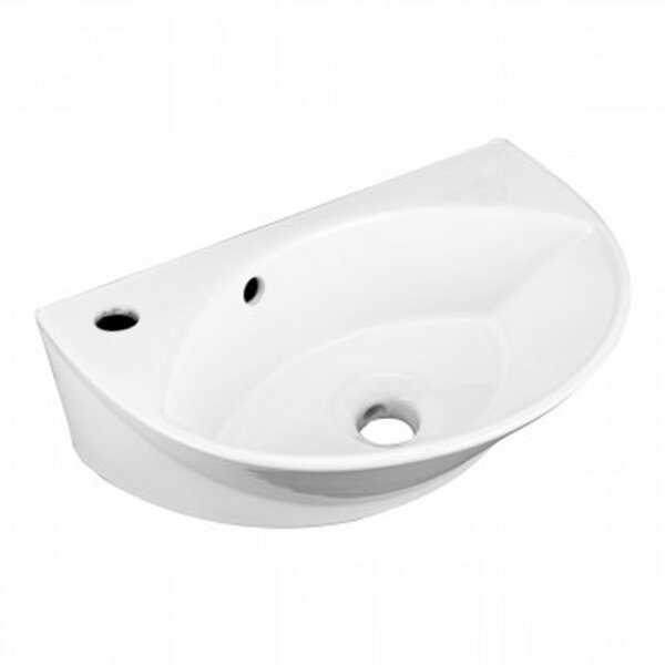Grade A Vitreous China U-Shaped Wall Mount Bathroom Sink with Faucet